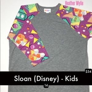 Sloan kids top size 14 LuLaRoe Disney